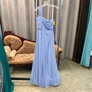 Dessy 1-Shoulder Grecian Bridesmaid Chiffon Dress